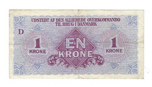 Denmark - WWII - 1945, 1 Krone - Allied Military Money
