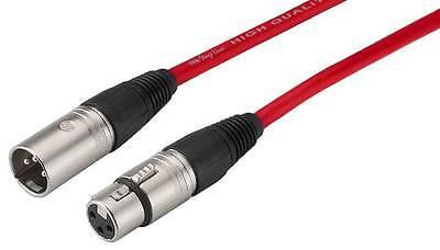 Xrl Hembra Macho Cable Metal Conector Rojo 15 Metros