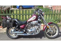 Classic , reliable, Yamaha Virago 750 long distance tourer. Subject of Derby Telegraph article