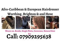 Mobile Afro Caribbean & European Hairdresser in Worthing area