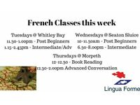 French Classes Private Tuition - Whitley Bay, Seaton Sluice, Morpeth