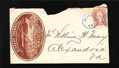 Baltimore Cromwell Farm Implement   Seed 1860S W H  May Alexandria Virginia Z82
