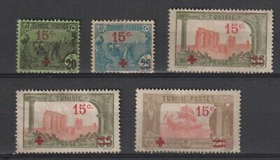 Tunisia Sc #B12-B13, B14 (2) Unused No Gum, B18 MH Part OG