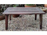 Antique Burma Teak Garden Table