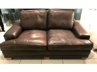 2 Seat Real Leather Sofa / Couch