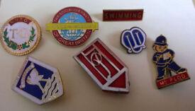 joblot of vintage enamel badges