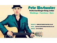 PETE WESTWATER - WEDDINGS/FUCNTIONS/BAR SINGER