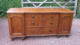 ORIGINAL ANTIQUE VICTORIAN INVERTED BREAK FRONT SIDEBOARD/DRESSER/SERVING STATION - PUB/RESTAURANT