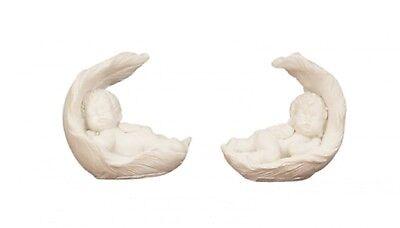 100 kleine Baby Engel in Feder schlafen Neu Engelfigur