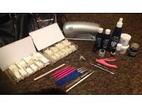 Gel and Acrylic nail set