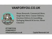 24/7 Removals service house,office,flat,furniture delivery Man and van rubbish collect Nationwide