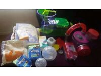 Two hamster cages and accessories including food for sale!!