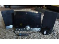 Micro system with ipod dock