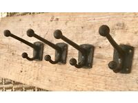 Set of 4 Vintage Victorian Coat Hooks #202
