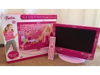 RARE: Official Barbie TV/DVD combi