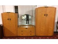 Lovely vintage wardrobe/dresser set DELIVERY AVAILABLE