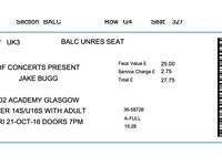 2 Jake Bugg tickets for tonite Friday