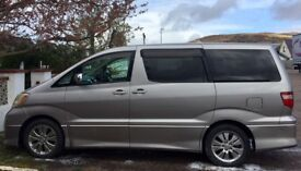 Toyota Alphard Luxury 8 seat MPV for bargain price
