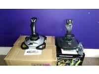 Thrustmaster T-16000M + Logitech Extreme 3D Pro PC Joysticks
