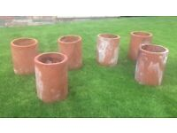 Reclaimed chimney pots x 6