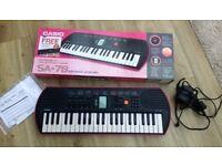Casio SA-78 pink keyboard