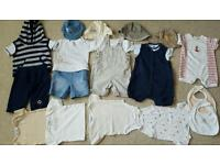 Bundle of baby boy clothes 3-6 months - 19 items in total