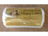 Cloth nappy viscose soft disposable liners x7