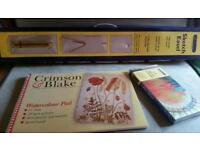 Artist's Sketch Easel with Watercolour Pad and Paint Set