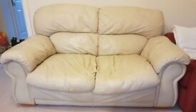 FREE Cream leather sofa - Pick up only