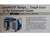 Yamaha EF1400 Electric Generator