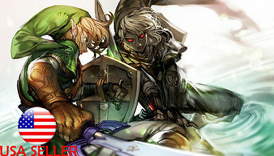 "Legend of Zelda Breath Wild Link 36/"" x 24/"" Large Wall Poster Print Anime NEW #2"
