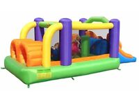 Duplay Happy Hop - Obstacle Course Bouncy Castle with Slide