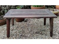 Antique Burma Teak Garden Table