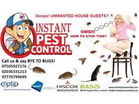 100% Guaranteed Pest Control 24/7 Mice Rat Bedbugs Cockroach Wasps Ants Flea Beetle Moth Spiders etc