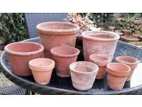 Vintage terracotta pots 1