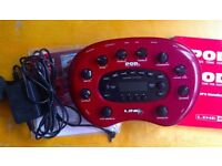 Line 6 POD XT As New with manual power supply and accessories