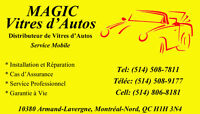 MAGIC - Parebrise - Windshield - 514-508-7811 - Service Mobile
