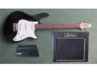 "Peavey ""Raptor Special"" Guitar with Kustom ""Dart 10"" and Electronic Tuner."