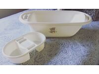 Baby Bath Off White/ Cream (Only Used Once)