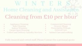 Cleaning and Assistance £10 per hour