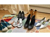 Fabulous Bundle of Ladies Shoes, Boots, Sandals (UK Sizes 5/6)and a Gerard Darell Scarf