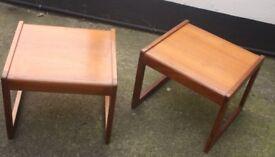 Vintage Danish Teak Lamp Tables