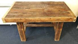 Chunky antique scrub top pitch pine kitchen table