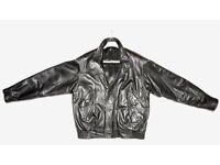 Men's Black Leather Jacket - Size 40-42 - Just £39