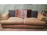 Divani Cream 3 Seater Sofa x2