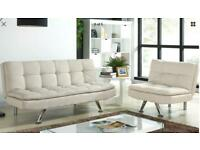 Set of sofa bed and chair