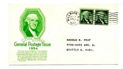 VINTAGE 1957 MILLBURN NJ 1954 GENERAL POSTAGE ISSUE POSTCARD for sale  Shipping to Canada