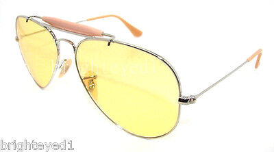 RAY-BAN Outdoorsman II Ambermatic Aviator Sunglasses RB 3407 - 003/4A *NEW* 58mm