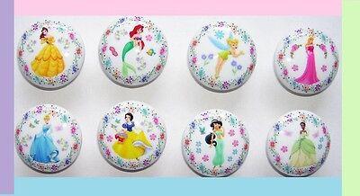 8  PRINCESS DRESSER DRAWER KNOBS  #1 GIRLS, KIDS MADE AS - Princess Drawer Knobs