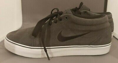 Nike Men's Satire Mid Shoes 599081-011 sz 9  Grey- Fast Free Shipping